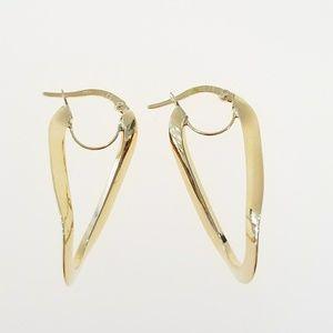 Jewelry - 14k yellow gold hoop earrings ladies medium